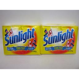 New Sunlight Traditional Pure Soap 2 x 130g Bars Yellow 2 X Packs of 2 bars