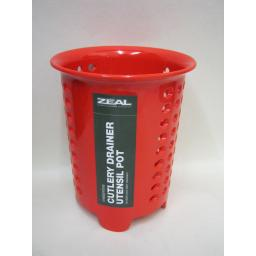 New Cks Zeal Melamine Cutlery Drainer Utensil Pot Red G231