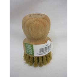 New Eddingtons Wood With Brass Bristles Grill BBQ Cleaning Scrubbing Brush