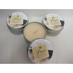 New Prices Wax Scented Candle Sweet Vanilla Tin Pk 3 Triple Pack