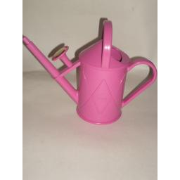 New Haws Heritage Indoor Plastic Watering Can Brass Rose 1 Litre Cerise Pink