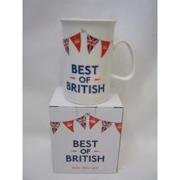 New Elgate Bone China Mug Beaker Coffee Tea Best Of British