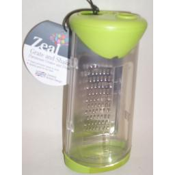 New Zeal Grate And Shake Cheese Parmesan Grater Dispenser Lime Green H29
