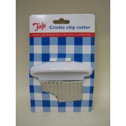 New Tala Stainless Steel Crinkle Chip Cutter Potato Chipper Chopper 3051