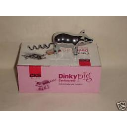 New Dinky Pig Corkscrew Heavy Metal Chrome Wine G92