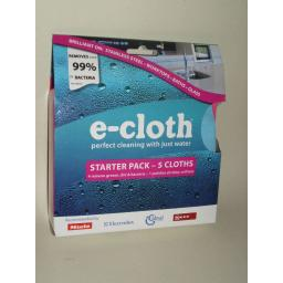 New E-Cloth Starter Pack 5 Cloths General Purpose Glass Chemical Free Cleaning