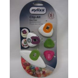 New DKB Zyliss Clip All Assorted Multi Coloured Bag Clips Pk5 E990032