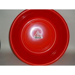 """New Lucy Red Large Round Plastic Washing Up Bowl 35cm 14"""" Slight Seconds"""