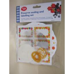 New Tala Jam Pot Covers Preserve Sealing & labels Set 1lb Pots Jars Fruits