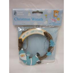 New PMS Snow White Baby Christmas Wreath My 1st Christmas Blue 514023