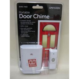 New Unicom Wireless Wirefree Cordless Portable Door Bell Chime Kit 120M Range