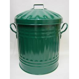 New Metal Dust Bin Recycling Refuse Bin Bucket Mini Dustbin Green