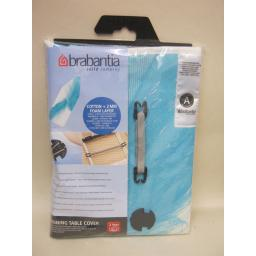 New Brabantia Cotton Ironing Board Cover A 110cm x 30cm Design Blue Feather