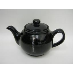 New Price And Kensington Small Pot Teapot 2 Cup Black 0056.745
