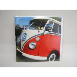 New VW Volkswagen Campervan Splitty Birthday Greetings Card Red