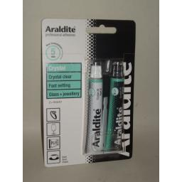 New Araldite Crystal Clear Fast Setting Strong Adhesive Glue Jewellery 2 x 15ml
