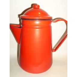 New Falcon Enamel 13cm 1.25ltr Coffee Pot Camping Red