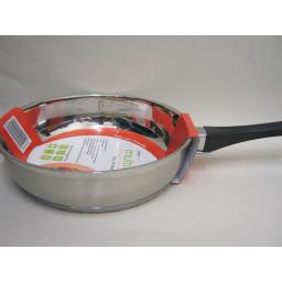 New Multi Cook Induction Stainless Steel Deep Frying Pan 24cm 5526024