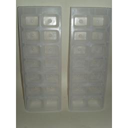New Chef Aid Plastic Freezer Ice Cube Trays Pk 2 W6639