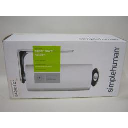 New Simplehuman Wall Mounted Paper Towel Kitchen Roll Holder Stainless KT1076