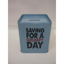 New Grumpy Old Gits Money Box Saving For A Grumpy Day Grump's Money Tin Metal