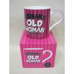 New Fine Bone China Mug Beaker Coffee Tea Cup Pink Miserable Old Woman
