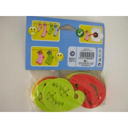 New Metaltex Silicone Sock Holders Pegs Clips Assorted Colours Pk12