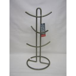 New DMD Fusion Mug 6 Cup Tree Hook Rack Wire Satin Nickle DD0540A23