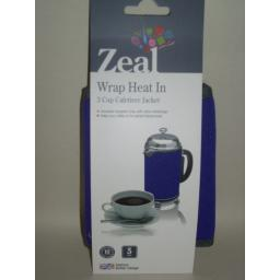 New Zeal Cafetiere Insulated Thermal Heat Wrap Jacket 3 Cup Purple C123