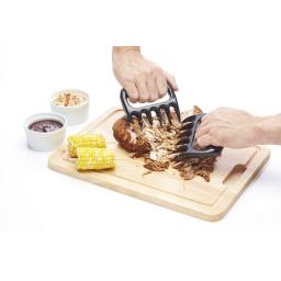New Kitchen Craft Black Plastic Pulled Pork Meat Shredder Claws Pk2 KCCLAW