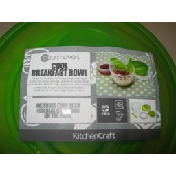 New Kitchen Craft Coolmovers Plastic Cool Breakfast Food Bowl Set CMLUNCH2