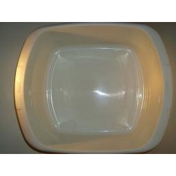 """New Whitefurze Cream Large Oblong Plastic Washing Up Bowl 37cm 14 1/2"""""""