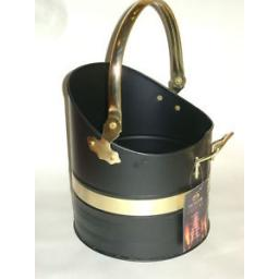 New Manor Black Brass Coal Scuttle Bucket Hod Warwick 1370