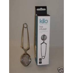New Kilo Tea Ball Infuser Stainless Steel Mesh Tweezers D24