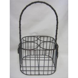 New Metal Wire Milk Wine Bottle Pint Carrier Crate Holder 4 Four Pints