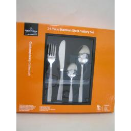 New Grunwerg Stainless Steel Cutlery Set 24 Piece Star Design 24BXSTR
