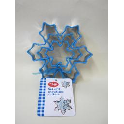 New Tala Snowflakes Biscuit Pastry Cookie Metal Cutters Set Of 3 Snowflake