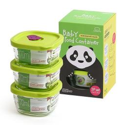New Lock And Lock Set Of 3 Baby Food Containers Square 170ml LLG161S3