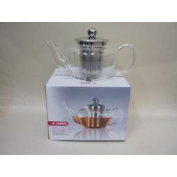 New Judge Glass Teapot With Mesh Stainless Steel Infuser 600ml Tea Pot TC296