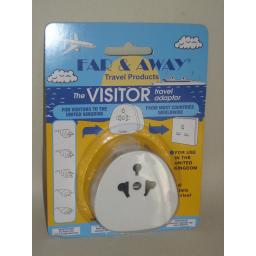 New Far And Away Universal Visitors To Uk Plug In Travel Adaptor 1666