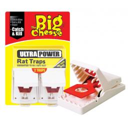 New Big Cheese Ultra Power Rat Trap Rodent Killer Traps Pk2 STV149