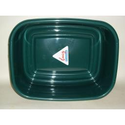 "New Lucy Green Small Oblong Plastic Washing Up Bowl 33cm 13"" Slight Seconds"