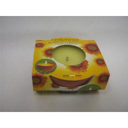 New Prices Citronella Tealight Candles Fragranced Tea Lights MiniTerracotta Pot