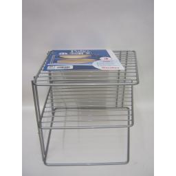 New Metaltex Corner Plate Rack Holder Shelf Metalic Silver Polytherm 364002