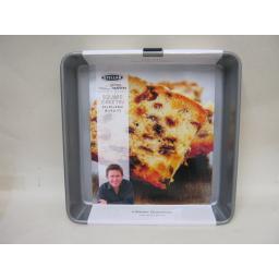 "New Stellar James Martin Metal Non Stick Heavy Duty Square Cake Tin Pan 9"" SJM53"