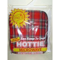 New Microwave Hottie Hot Water Bottle Red Tartan