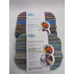New Kilo Euro Scrubby Scourer Cleaning Cloth Pk2 Assorted Colours