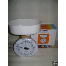New Salter Kitchen Weighing Scales White 125