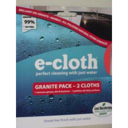 New E-Cloth Granite Marble Cleaning Pack 2 Cloths
