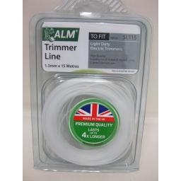 New ALM Light Duty Weight Electric Strimmer Cutting Line SL115 15m 1.3mm